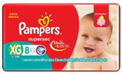 FRALDA PAMPERS BASICA SUPERSEC XG 8UN