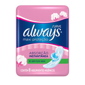 ABSORVENTE ALWAYS PINK S/ABAS 8UN