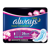 ABSORVENTE ALWAYS NOTURNO PINK 8UN