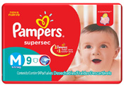 FRALDA PAMPERS BASICA SUPERSEC M 9UN