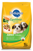 PEDIGREE EQUILIBRIO NATURAL FILHOTES 15KG