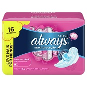 ABSORVENTE ALWAYS PINK C/ABAS L16 P14