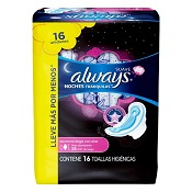 ABSORVENTE ALWAYS NOTURNO PINK L16 P14