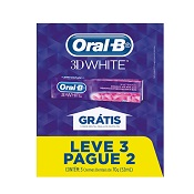 PACK CREME DENTAL ORAL-B 3D WHITE LEVE 3 PAGUE 2 70GR