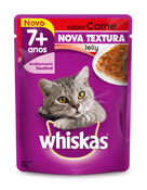 WHISKAS JELLY ADULTO 7+ CARNE 85GR SACHE