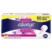 ABSORVENTE ALWAYS PROTETOR DIARIO REGULAR C/80 UN LEVE MAIS PAGUE MENOS