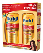KIT NIELY GOLD SH 300ML + COND 200ML QUERATINA REPARACAO