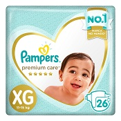 FRALDA PAMPERS PREMIUM CARE XG 26UN MEGA
