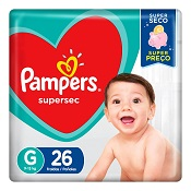 PAMPERS BASICA SUPERSEC G 26UN PACOTAO