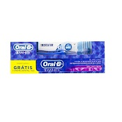 ESCOVA DENTAL ORAL B INDICATOR + CREME DENTAL 3D WHITE 70GR