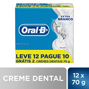 CREME DENTAL ORAL-B EXTRA BRANCO L12 P10 70GR