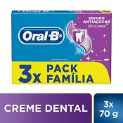 CREME DENTAL ORAL-B ANTI ACUCAR 3X70GR