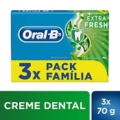 CREME DENTAL ORAL-B EXTRAFRESH 3X70GR