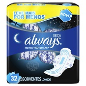 ABSORVENTE ALWAYS NOTURNO ACTIVE C/ABAS 32UN