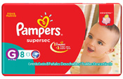 FRALDA PAMPERS BASICA SUPERSEC G 8UN