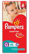 FRALDA PAMPERS BASICA SUPERSEC G 46UN HIPER