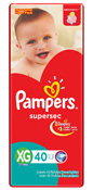 FRALDA PAMPERS BASICA SUPERSEC XG 40UN HIPER