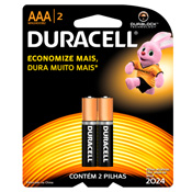 PILHA DURACELL AAA PALITO C/2
