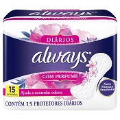 ABSORVENTE ALWAYS PROTETOR DIARIO REGULAR 15UN