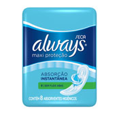 ABSORVENTE ALWAYS PROTECAO TOTAL ACTIVE S/ABAS 8UN